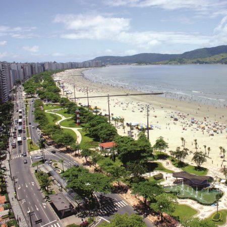 Avenida da praia em Santos - Revista Nove - Foto Tadeu Nascimento
